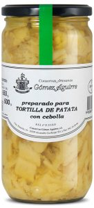 Gómez Aguirre: Preparado para tortilla de patata con cebolla