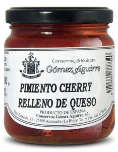 Gómez Aguirre: Pimientos cherry rellenos de queso