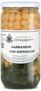 Gómez Aguirre: Garbanzos con espinacas